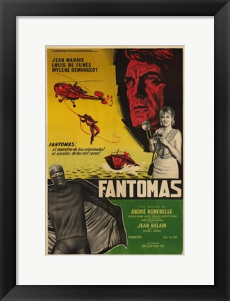 Framed Fantomas Film In Spanish Print