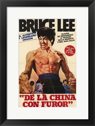 Framed Fists of Fury Spanish Print
