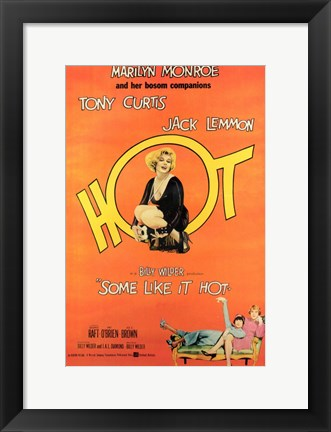 Framed Some Like it Hot, c.1959 - style F Print