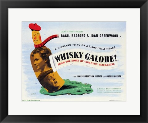 Framed Whiskey Galore Print