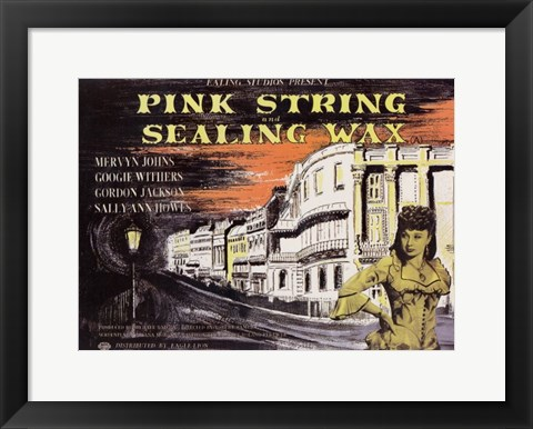Framed Pink String and Sealing Wax Print