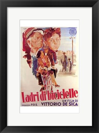 Framed Bicycle Thief - Italian Print