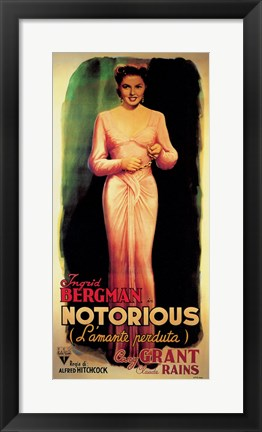 Framed Notorious Ingrid Bergman Print