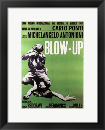 Framed Blow Up Green Print