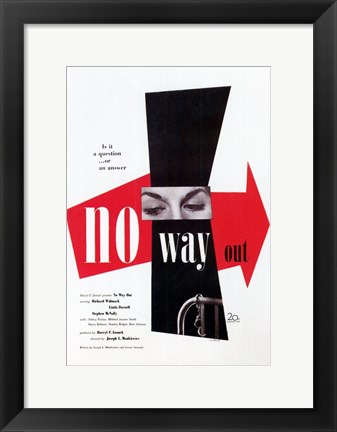 Framed No Way Out Print