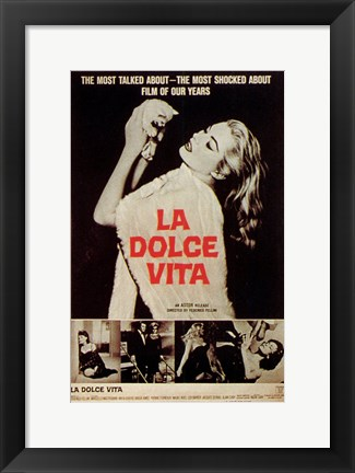 Framed La Dolce Vita Most Talked About Film Print