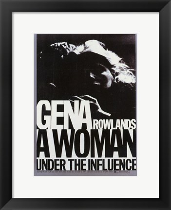 Framed Woman Under the Influence Gena Rowlands Print