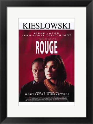 Framed Trois Couleurs: Rouge Irene Jacob Print