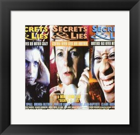 Framed Secrets Lies Print