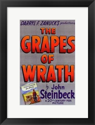 Framed Grapes of Wrath - Darryl F. Zanuck's Print