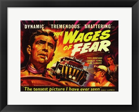 Framed Wages of Fear Dynamic Tremendous Shattering Print