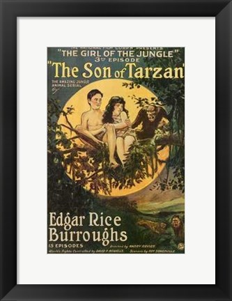 Framed Son of Tarzan, c.1920 - style A Print