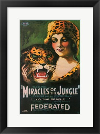 Framed Miracles of the Jungle Print