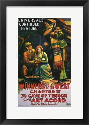Framed Winners of the West - movie poster Print