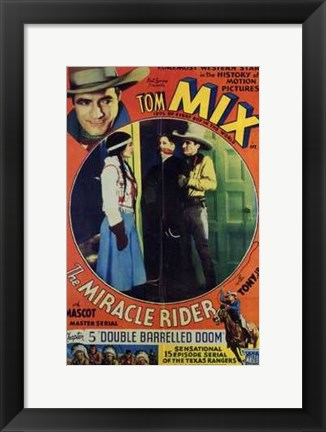 Framed Miracle Rider Tom Mix Double Barrelled Doom Print