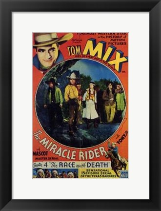 Framed Miracle Rider Tom Mix The Race with Death Print