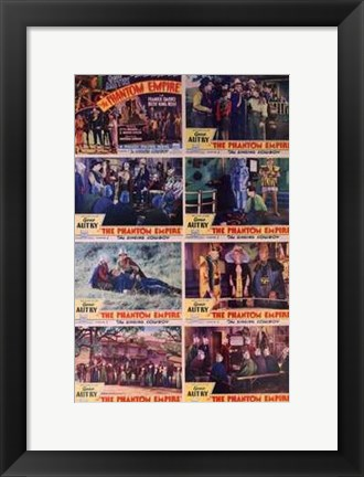 Framed Phantom Empire Scenes Print