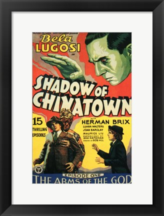 Framed Shadow of Chinatown Episode 1 Print