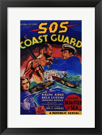 Framed Sos Coast Guard Print