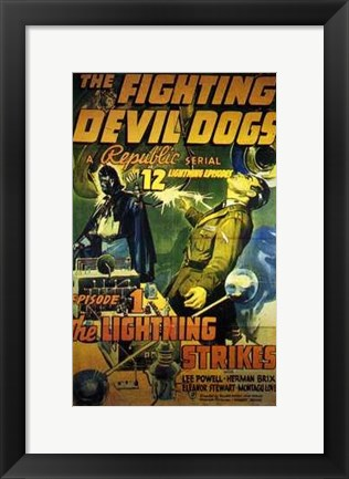 Framed Fighting Devil Dogs Episode 1 Print