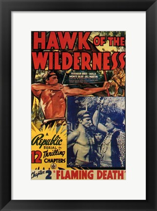 Framed Hawk of the Wilderness Print