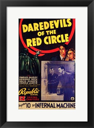 Framed Daredevils of the Red Circle Print