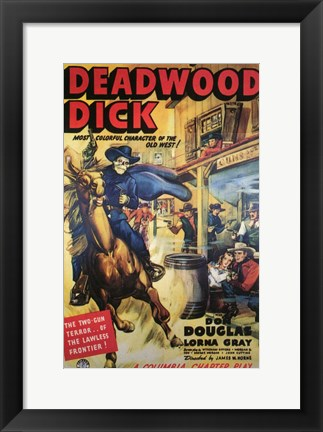 Framed Deadwood Dick Print