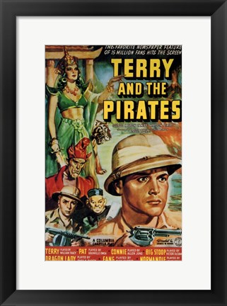 Framed Terry and the Pirates Print