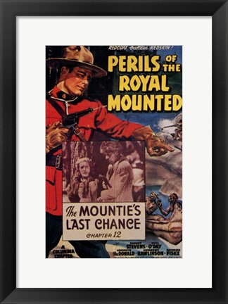 Framed Perils of the Royal Mounted Print