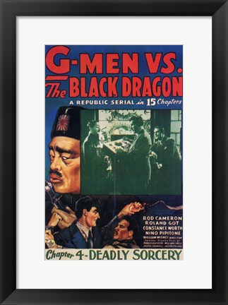 Framed G-Men Vs the Black Dragon Print