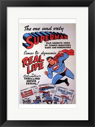Framed Superman Coming to the Movies Print