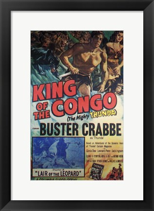 Framed King of the Congo Print
