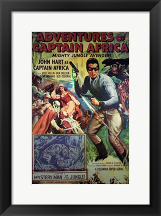 Framed Adventures of Captain Africa Print