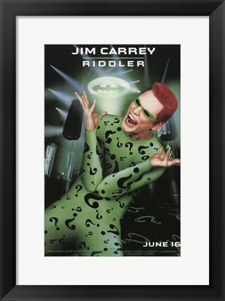 Framed Batman Forever Jim Carrey as Riddler Print