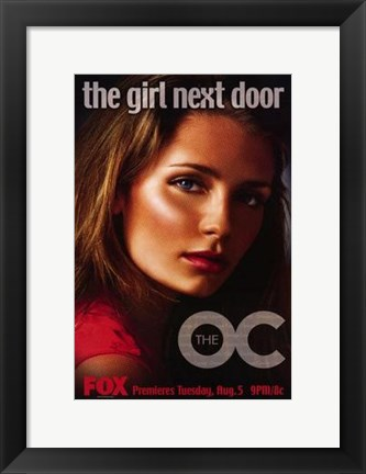 Framed Oc - the girl next door Print