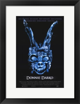 Framed Donnie Darko - Blue Skull Print