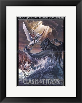 Framed Clash of the Titans, c.1981 - style D Print