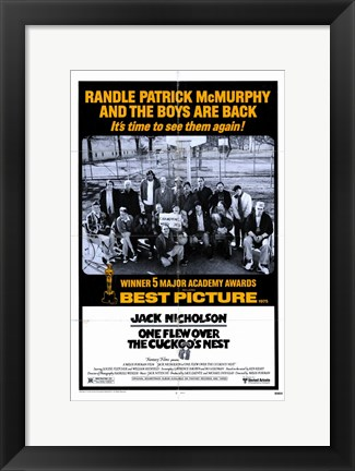 Framed One Flew Over the Cuckoo's Nest Randle Patrick McMurphy Print