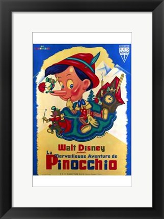Framed Pinocchio French Print