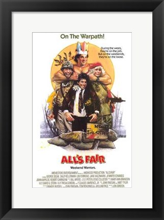 Framed All's Fair Print