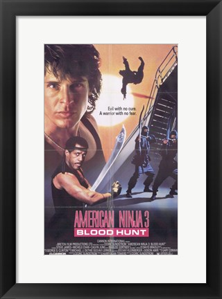 Framed American Ninja 3 Blood Hunt Print