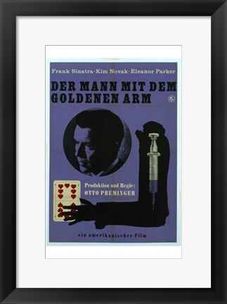 Framed Man with the Golden Arm - German Print