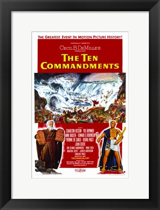 Framed Ten Commandments Flood Print