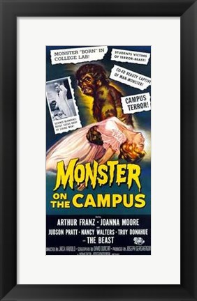 Framed Monster on the Campus Arthur Franz Print