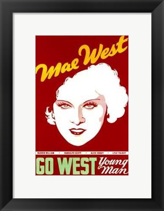Framed Go West Young Man Print