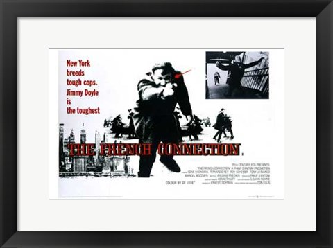 Framed French Connection New York Breeds Tough Cops Print