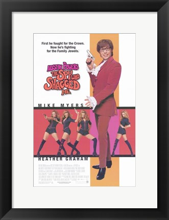 Framed Austin Powers 2: the Spy Who Shagged Me With Mike Meyers Print