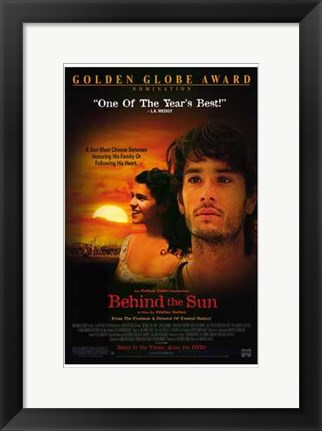 Framed Behind the Sun Print