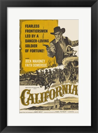 Framed California - Yellow Print