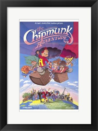 Framed Chipmunk Adventure Print